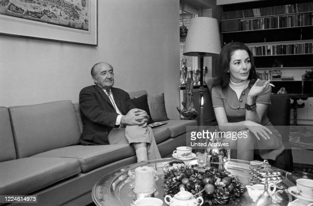 German actress Karin Dor with husband film director Harald Reinl Germany 1960s