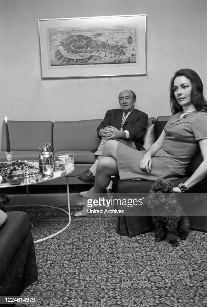 German actress Karin Dor with husband the film director Harald Reinl Germany 1960s