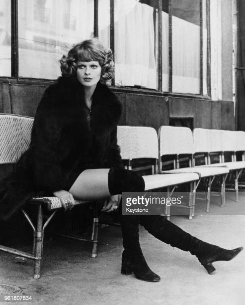 German actress Karin Schubert during a holiday in Paris France circa 1972