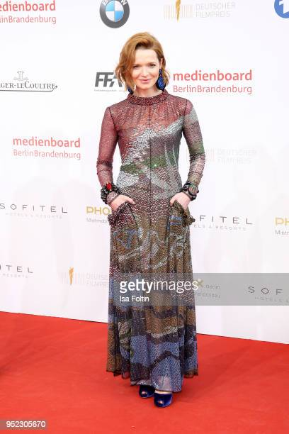 German actress Karoline Herfurth attends the Lola German Film Award red carpet at Messe Berlin on April 27 2018 in Berlin Germany