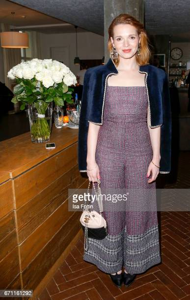 German actress Karoline Herfurth during the Chanel popup store opening at Soho House on April 19 2017 in Berlin Germany