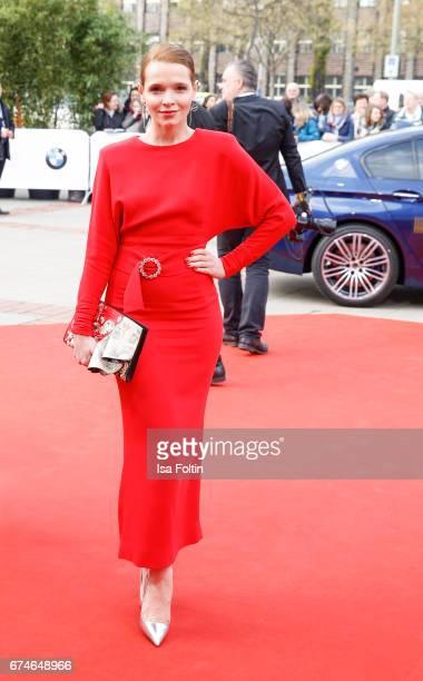 German actress Karoline Herfurth during the Lola German Film Award red carpet arrivals at Messe Berlin on April 28 2017 in Berlin Germany