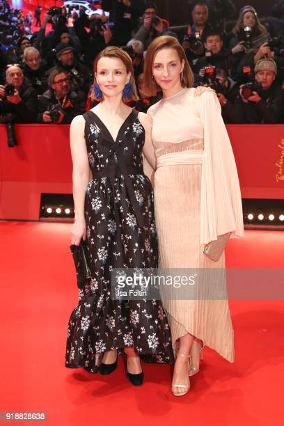 German actress Karoline Schuch and German actress Katharina Schuettler attend the Opening Ceremony 'Isle of Dogs' premiere during the 68th Berlinale...