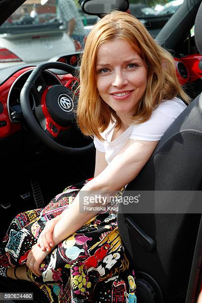 German actress Karoline Schuch attends the 12th Beetle Sunshine Tour To Travemuende the 12th Beetle Sunshine Tour on August 20 2016 in Luebeck Germany