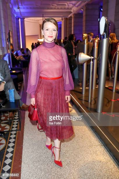 German actress Karoline Schuch attends the Blue Hour Reception hosted by ARD during the 68th Berlinale International Film Festival Berlin on February...