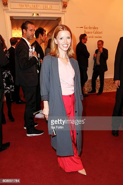 German actress Karoline Schuch attends the First Steps Awards 2016 at Stage Theater on September 19 2016 in Berlin Germany