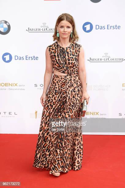 German actress Karoline Schuch attends the Lola German Film Award red carpet at Messe Berlin on April 27 2018 in Berlin Germany