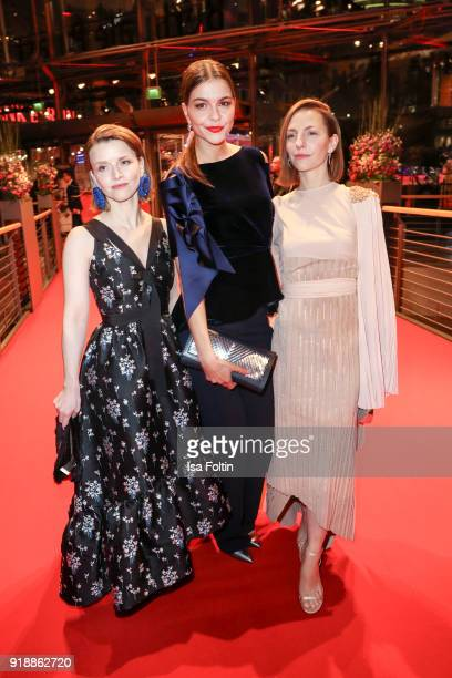 German actress Karoline Schuch German actress Susan Hoecke and German actress Katharina Schuettler attend the opening party of the 68th Berlinale...