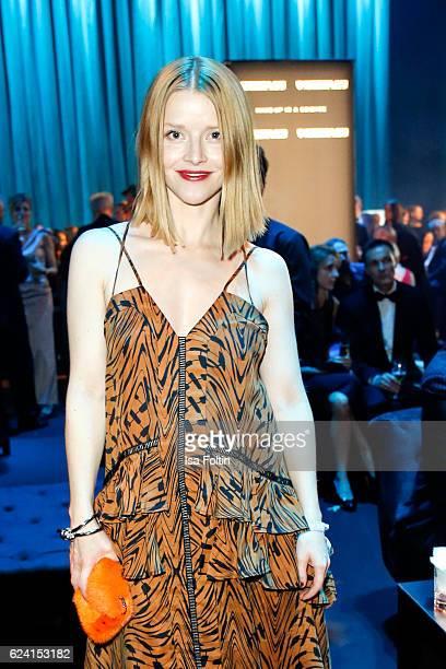 German actress Karoline Schuch poses at the Bambi Awards 2016 party at Atrium Tower on November 17 2016 in Berlin Germany