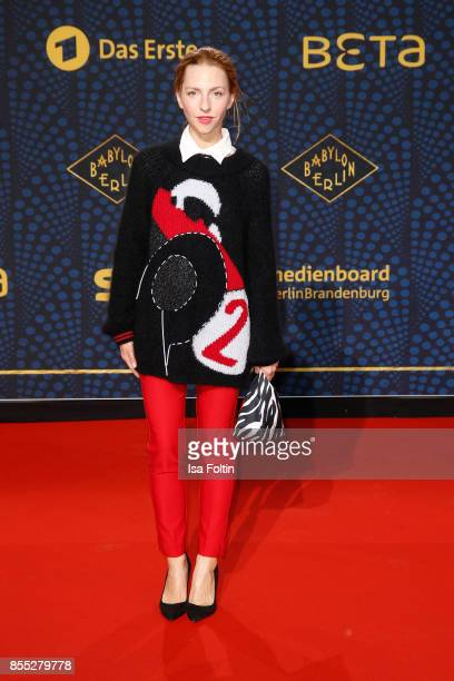 German actress Katharina Schuettler attends the 'Babylon Berlin' Premiere at Berlin Ensemble on September 28 2017 in Berlin Germany