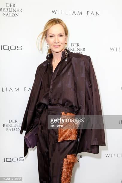 German actress Katja Flint arrives at the William Fan Defile during 'Der Berliner Salon' Autumn/Winter 2019 at Knutschfleck on January 15 2019 in...