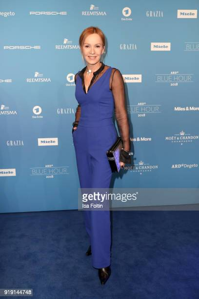 German actress Katja Flint attends the Blue Hour Reception hosted by ARD during the 68th Berlinale International Film Festival Berlin on February 16...