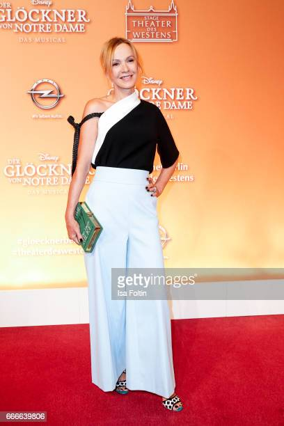 German actress Katja Flint attends the premiere of the musical 'Der Gloeckner von Notre Dame' on April 9 2017 in Berlin Germany