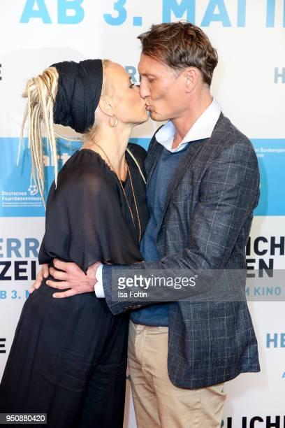 German actress Katja Riemann and German actor Oliver Masucci during the 'Herrliche Zeiten' Premiere In Berlin at Kino International on April 24, 2018...