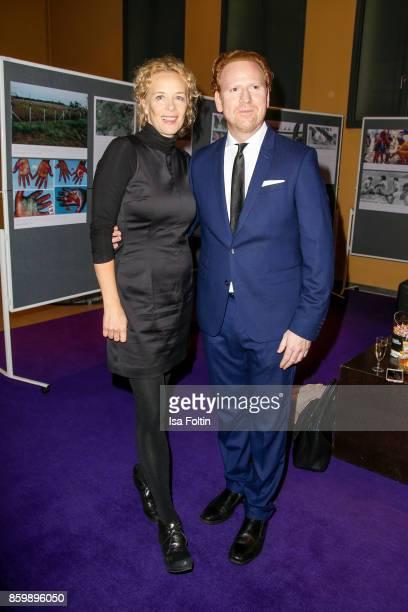 German actress Katja Riemann and violinist Daniel Hope attend the premiere of 'Der Klang des Lebens' at Kino in der Kulturbrauerei on October 10 2017...