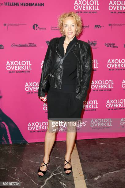 German actress Katja Riemann attends the 'Axolotl Overkill' Berlin Premiere at Volksbuehne RosaLuxemburgPlatz on June 21 2017 in Berlin Germany