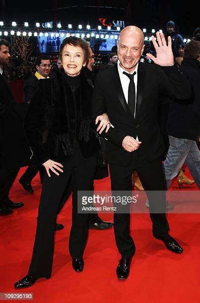 German actress Katrin Sass and German actor Christian Berkel attend the Award Winner Photocall during day ten of the 61st Berlin International Film...