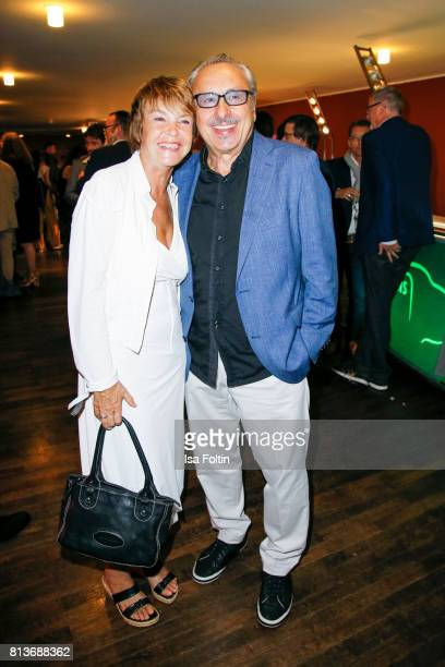 German actress Katrin Sass and German actor Wolfgang Stumph during the summer party 2017 of the German Producers Alliance on July 12, 2017 in Berlin,...