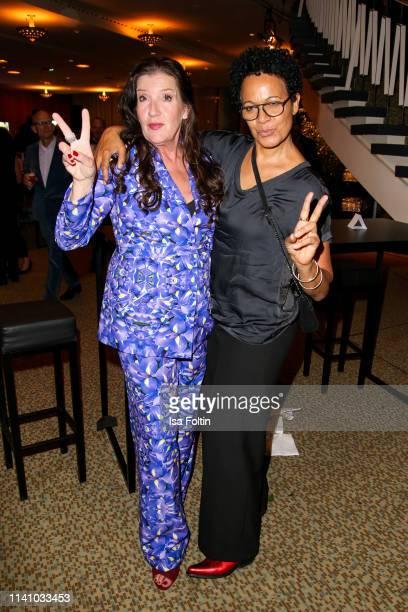 German actress Katy Karrenbauer and director Mo Asumang attend the Lola German Film Award Party at Palais am Funkturm on May 3 2019 in Berlin Germany