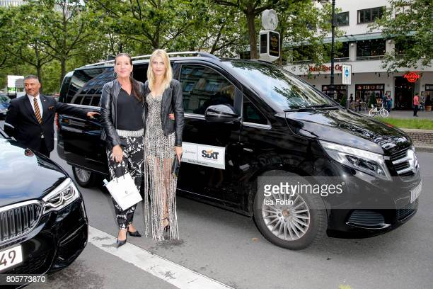 German actress Katy Karrenbauer and German presenter Tanja Buelter during the host of Annabelle Mandengs Ladies Dinner at Hotel Zoo on July 2 2017 in...