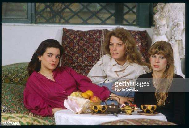 German actress Katya Berger relaxes with her sisters Debca and Carin at home Berger plays the title role in Israeli director Dan Wolman's 1982...