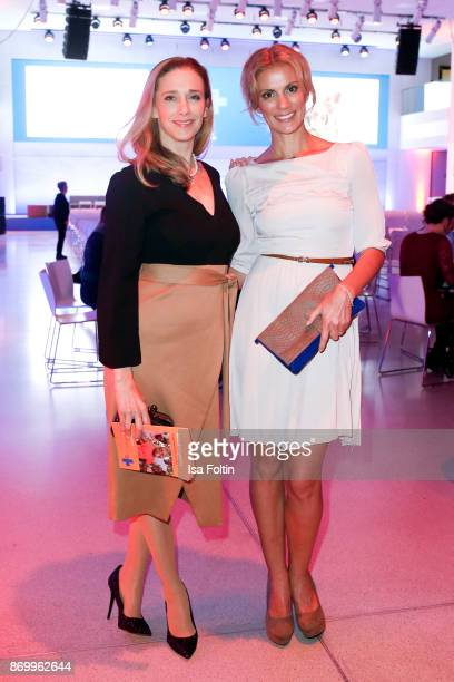 German actress Kristin Meyer and German presenter Kerstin Linnartz attends the 19th Media Award by Kindernothilfe on November 3 2017 in Berlin Germany