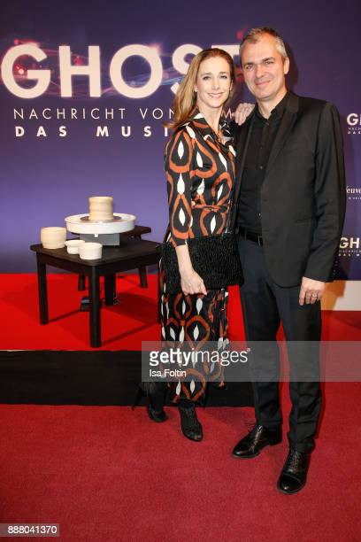 German actress Kristin Meyer and her husband director Patrick Winczewski during the premiere of 'Ghost Das Musical' at Stage Theater on December 7...