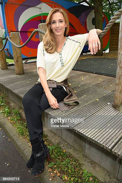 German actress Kristin Meyer during the Daily Soap 'Unter uns' Summer Event Fan Meeting on August 22 2016 in Cologne Germany