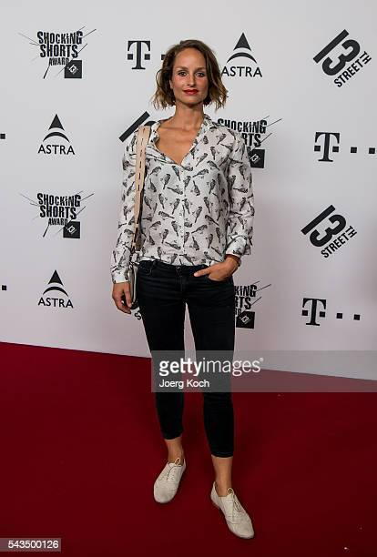 German actress Lara Joy Koerner attends the Shocking Shorts Award 2016 Munich Film Festival on June 28 2016 in Munich Germany