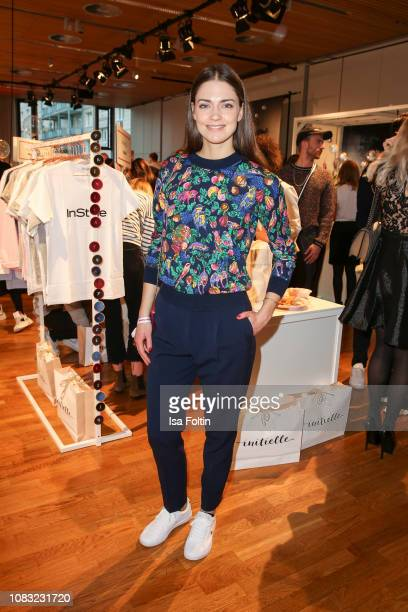 German actress Laura Berlin attends the InStyle Lounge Opening Brunch/Open House at Cafe Moskau on January 16 2019 in Berlin Germany