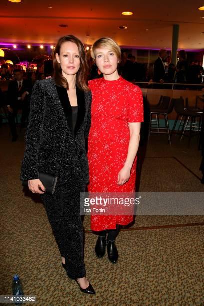 German actress Lavinia Wilson and German actress Anna Brueggemann attend the Lola German Film Award Party at Palais am Funkturm on May 3 2019 in...