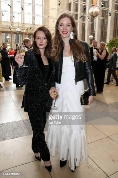 German actress Lavinia Wilson and German actress Pheline Roggan attend the Lola German Film Award reception at Palais am Funkturm on May 3 2019 in...