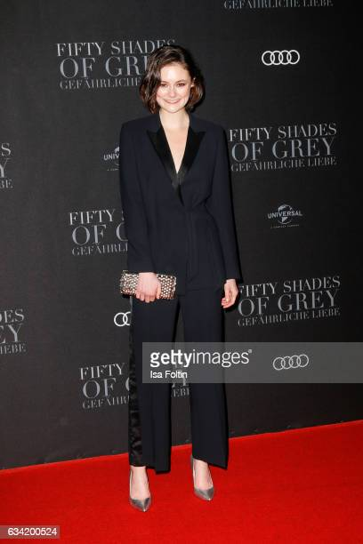 German actress Lea van Acken attends the European premiere of 'Fifty Shades Darker' at Cinemaxx on February 7 2017 in Hamburg Germany
