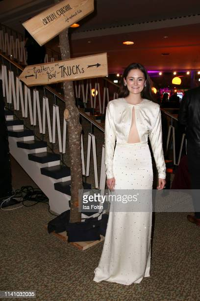 German actress Lea van Acken attends the Lola - German Film Award Party at Palais am Funkturm on May 3, 2019 in Berlin, Germany.