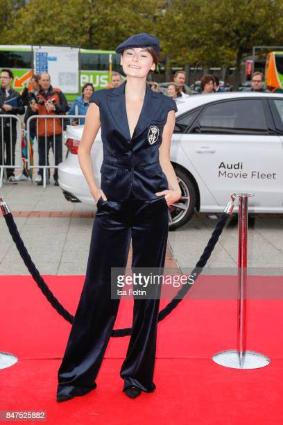 German actress Lea van Acken attends the UFA 100th anniversary celebration at Palais am Funkturm on September 15 2017 in Berlin Germany