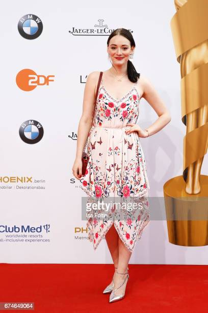 German actress Lea van Acken during the Lola German Film Award red carpet arrivals at Messe Berlin on April 28 2017 in Berlin Germany