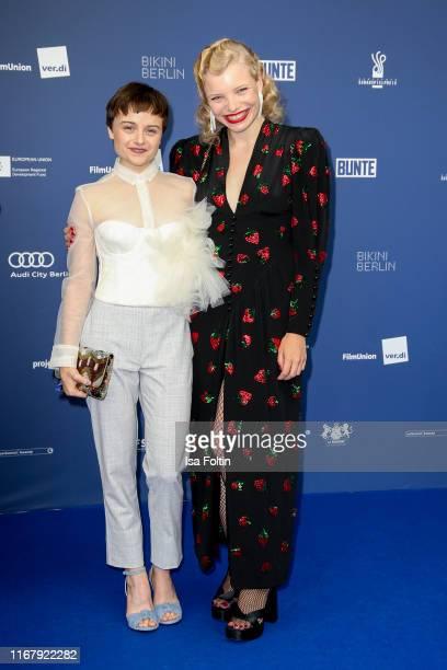 "German actress Lena Urzendowsky and German actress Luisa-Celine Gaffron at the award ceremony of the ""Deutscher Schauspielpreis"" at Zoo Palast on..."
