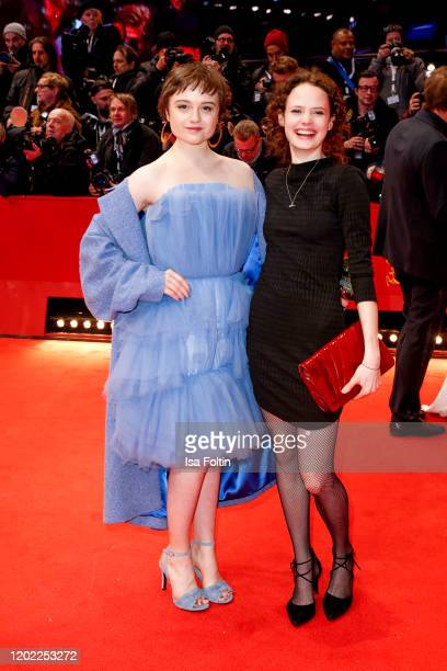 German actress Lena Urzendowsky and guest arrive for the opening ceremony and My Salinger Year premiere during the 70th Berlinale International Film...
