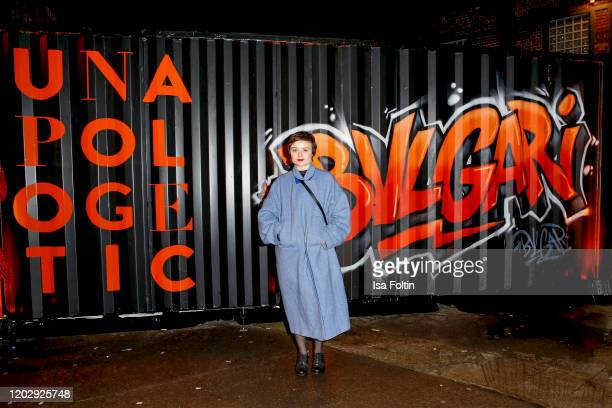 """German actress Lena Urzendowsky at the """"Unapologetic Night"""" by BVLGARI x Constantin Film at BVLGARI CLVB on February 23, 2020 in Berlin, Germany."""