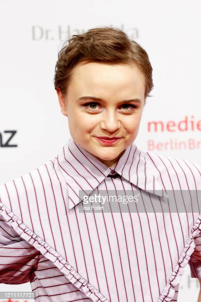 German actress Lena Urzendowsky attends the Medienboard Party on the occasion of the 70th Berlinale International Film Festival at Ritz Carlton on...