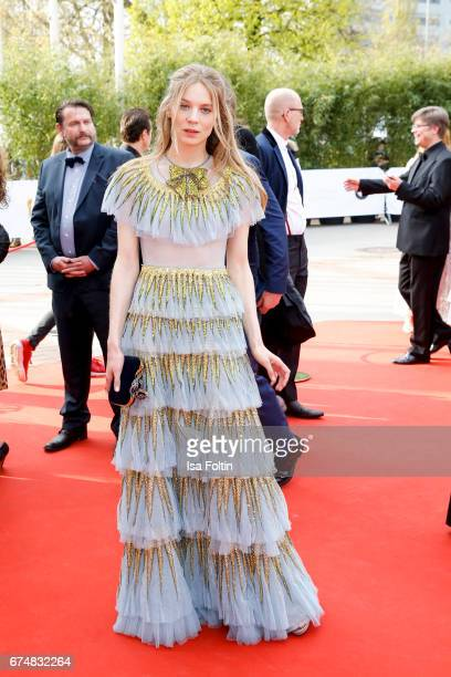 German actress Lilith Stangenberg during the Lola German Film Award red carpet arrivals at Messe Berlin on April 28 2017 in Berlin Germany