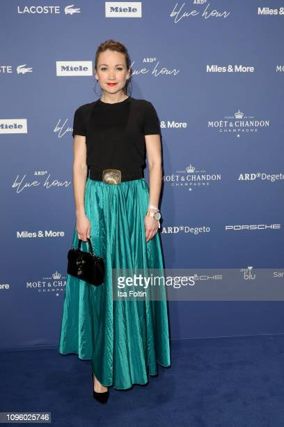German actress Lisa Maria Potthoff attends the Blue Hour Party hosted by ARD during the 69th Berlinale International Film Festival at Haus der...