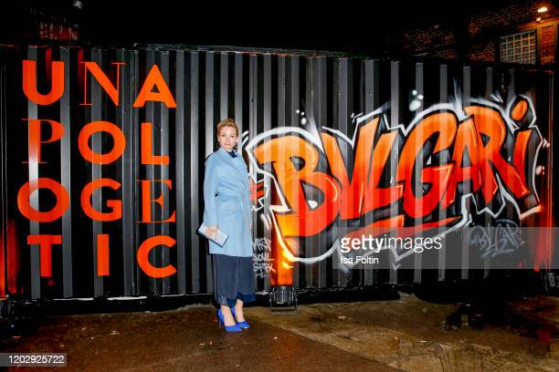 German actress Lisa Marie Potthoff at the Unapologetic Night by BVLGARI x Constantin Film at BVLGARI CLVB on February 23 2020 in Berlin Germany