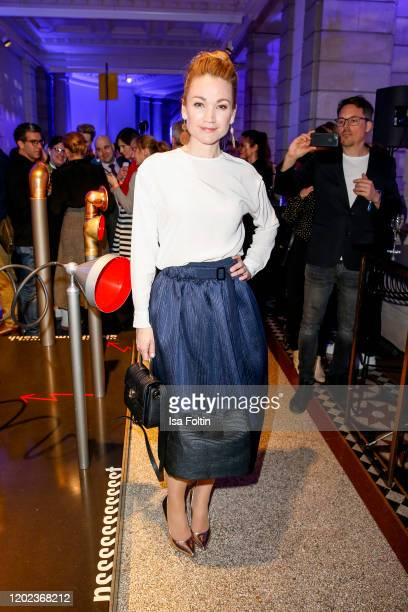 German actress Lisa Marie Potthoff attends the Blue Hour Party hosted by ARD during the 70th Berlinale International Film Festival at Museum der...