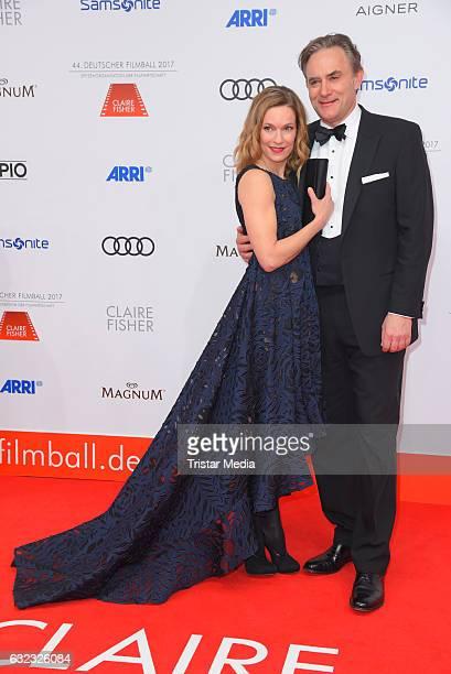 German actress Lisa Martinek and her husband Giulio Ricciarelli attend the German Film Ball 2017 at Hotel Bayerischer Hof on January 21 2017 in...