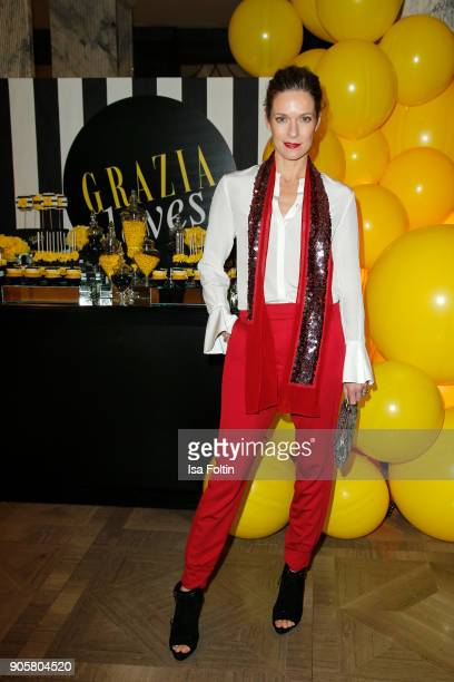 German actress Lisa Martinek during the Grazia Fashion Dinner at Titanic Deluxe Hotel on January 16 2018 in Berlin Germany