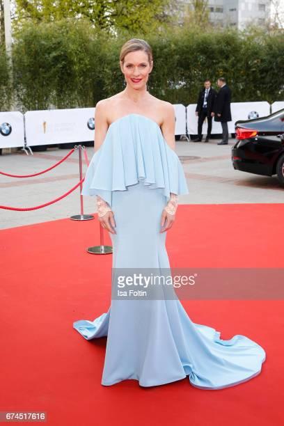 German actress Lisa Martinek during the Lola German Film Award red carpet arrivals at Messe Berlin on April 28 2017 in Berlin Germany