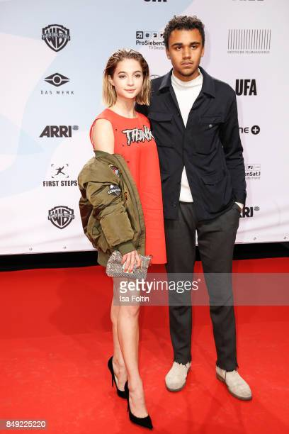German actress LisaMarie Koroll and German actor Langston Uibel attend the First Steps Awards 2017 at Stage Theater on September 18 2017 in Berlin...