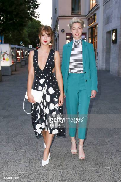 German actress LisaMarie Koroll and her sister Influencer LaraSophie Koroll during the Bunte New Faces Night at Grace Hotel Zoo on July 2 2018 in...