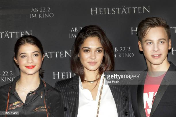 German actress LisaMarie Koroll German actress and Video Blogger Nilam Farooq and German actor Timmi Trinks attend the 'Heilstaetten' premiere at...